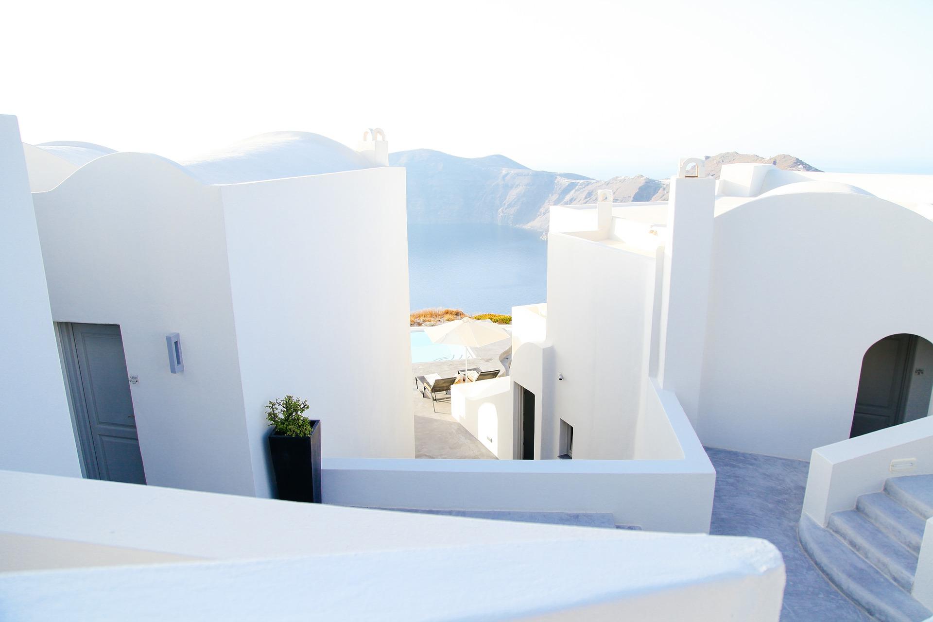 Casas blancas Grecia